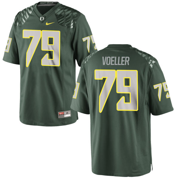 Men's Nike Evan Voeller Oregon Ducks Limited Green Football Jersey