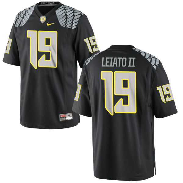 Men's Nike Fotu T. Leiato II Oregon Ducks Replica Black Jersey