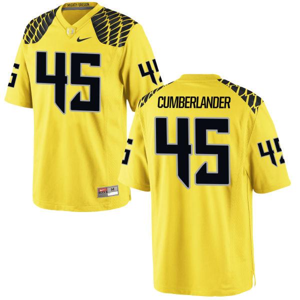 Men's Nike Gus Cumberlander Oregon Ducks Authentic Gold Football Jersey