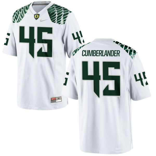Men's Nike Gus Cumberlander Oregon Ducks Game White Football Jersey