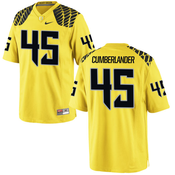 Men's Nike Gus Cumberlander Oregon Ducks Game Gold Football Jersey