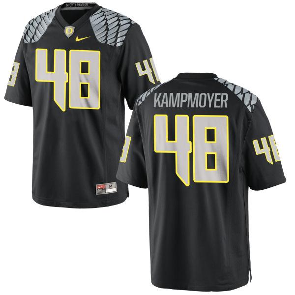 Men's Nike Hunter Kampmoyer Oregon Ducks Replica Black Jersey