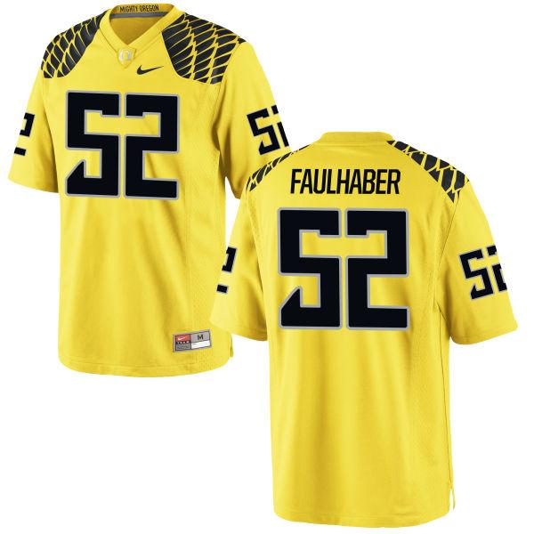 Men's Nike Ivan Faulhaber Oregon Ducks Authentic Gold Football Jersey