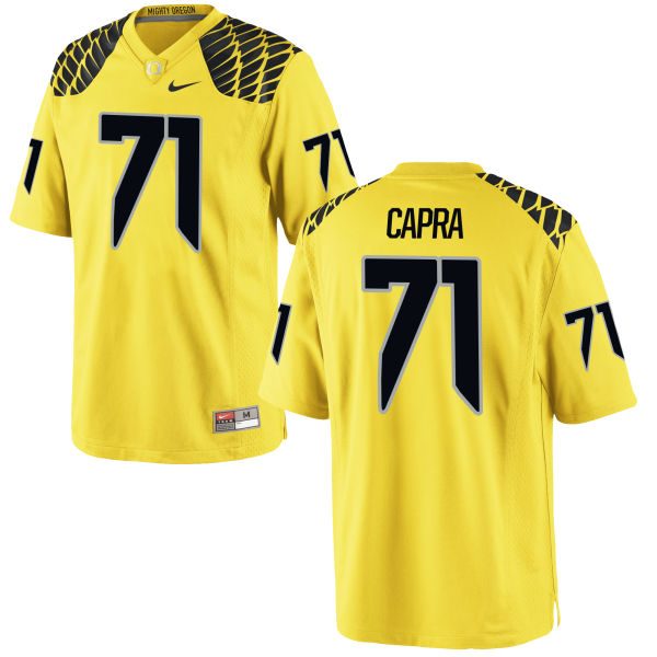 Men's Nike Jacob Capra Oregon Ducks Replica Gold Football Jersey