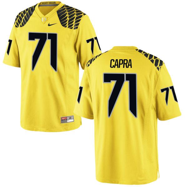 Men's Nike Jacob Capra Oregon Ducks Game Gold Football Jersey