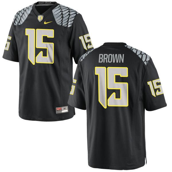 Men's Nike Jalen Brown Oregon Ducks Game Black Jersey