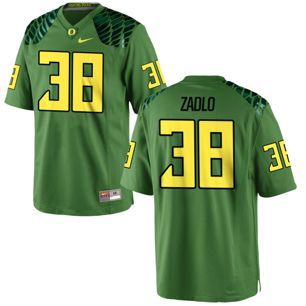 Men's Nike Jaren Zadlo Oregon Ducks Game Green Alternate Football Jersey Apple