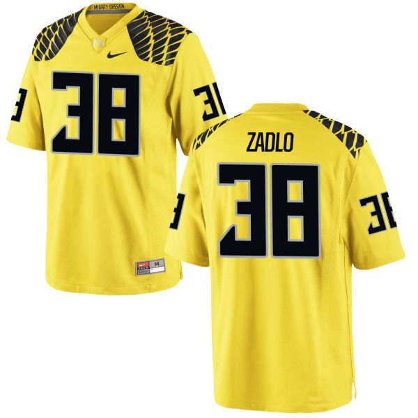 Men's Nike Jaren Zadlo Oregon Ducks Game Gold Football Jersey