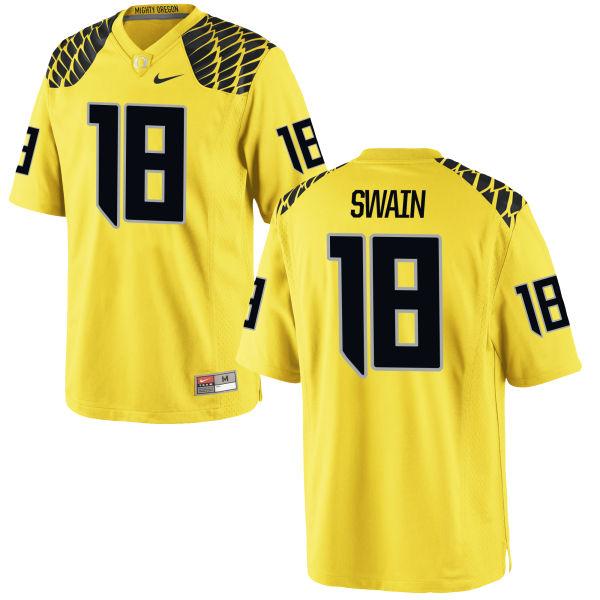Men's Nike Jimmie Swain Oregon Ducks Authentic Gold Football Jersey