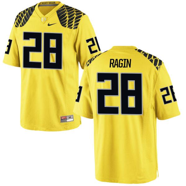 Men's Nike Johnny Ragin III Oregon Ducks Authentic Gold Football Jersey