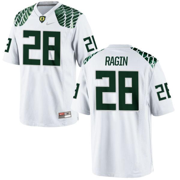 Men's Nike Johnny Ragin III Oregon Ducks Limited White Football Jersey