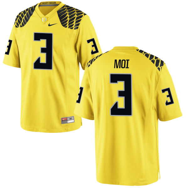 Men's Nike Jonah Moi Oregon Ducks Game Gold Football Jersey