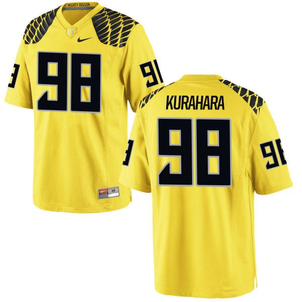 Men's Nike Jordan Kurahara Oregon Ducks Authentic Gold Football Jersey