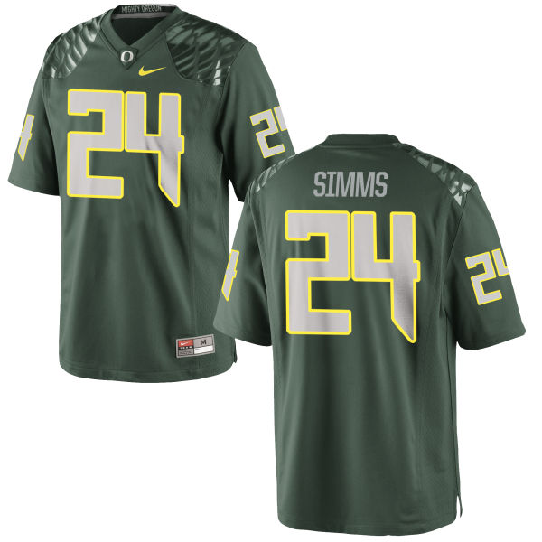 Men's Nike Keith Simms Oregon Ducks Game Green Football Jersey