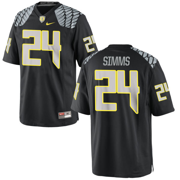 Men's Nike Keith Simms Oregon Ducks Game Black Jersey