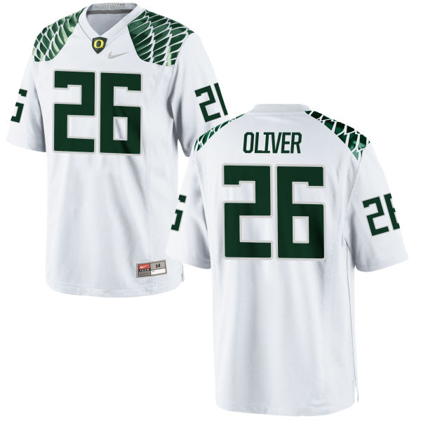 Men's Nike Khalil Oliver Oregon Ducks Game White Football Jersey