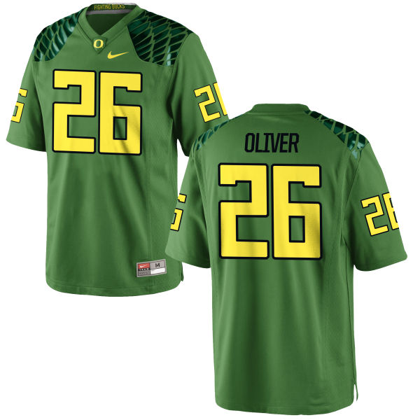 Men's Nike Khalil Oliver Oregon Ducks Game Green Alternate Football Jersey Apple