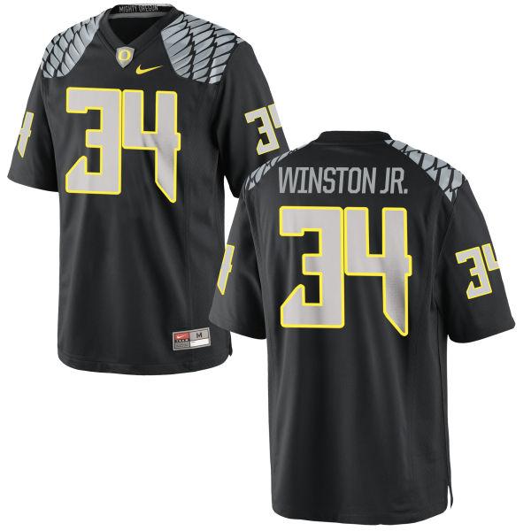 Youth Nike La'Mar Winston Jr. Oregon Ducks Replica Black Jersey