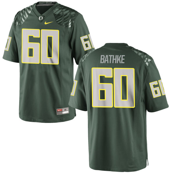 Men's Nike Logan Bathke Oregon Ducks Game Green Football Jersey