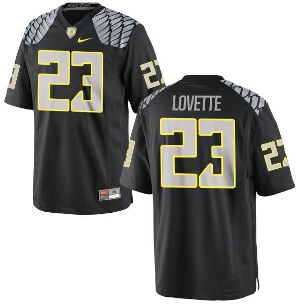 Men's Nike Malik Lovette Oregon Ducks Replica Black Jersey