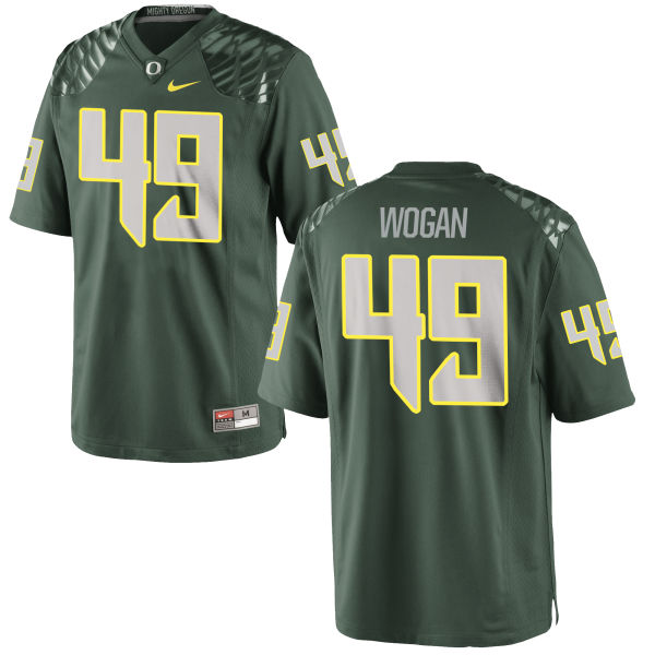 Men's Nike Matt Wogan Oregon Ducks Game Green Football Jersey