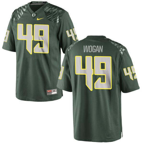 Men's Nike Matt Wogan Oregon Ducks Limited Green Football Jersey