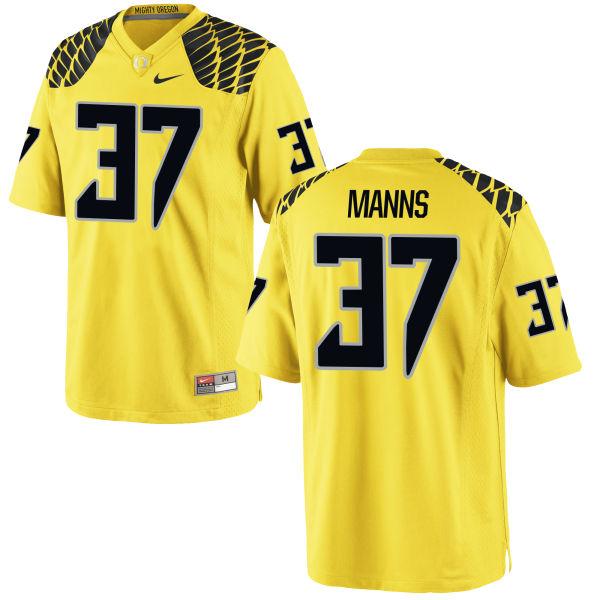 Men's Nike Michael Manns Oregon Ducks Replica Gold Football Jersey