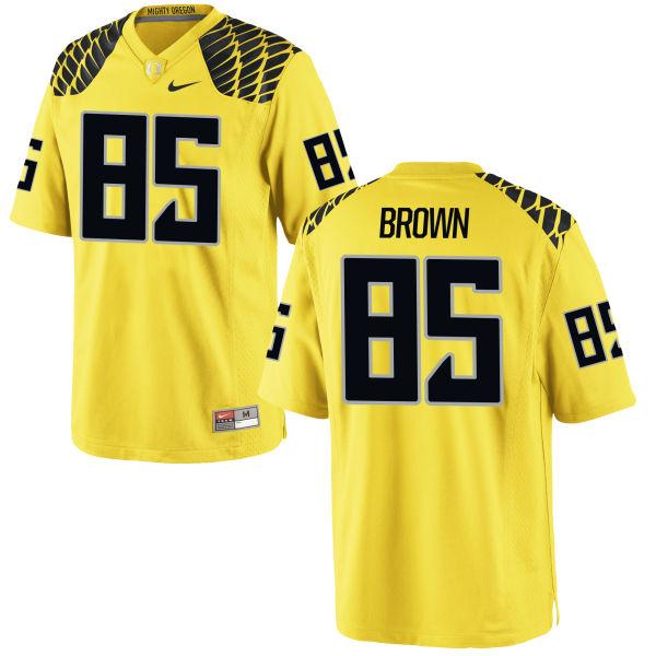 Men's Nike Pharaoh Brown Oregon Ducks Limited Gold Football Jersey