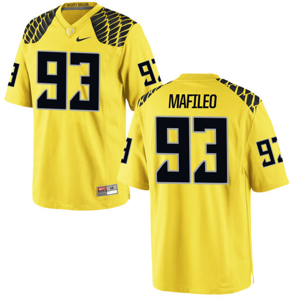 Men's Nike Ratu Mafileo Oregon Ducks Game Gold Football Jersey