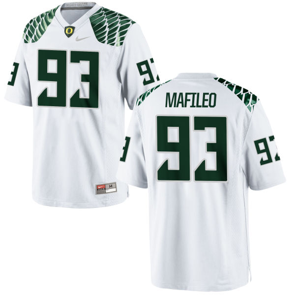 Men's Nike Ratu Mafileo Oregon Ducks Limited White Football Jersey