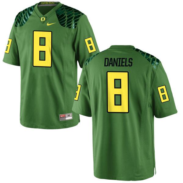 Men's Nike Reggie Daniels Oregon Ducks Game Green Alternate Football Jersey Apple