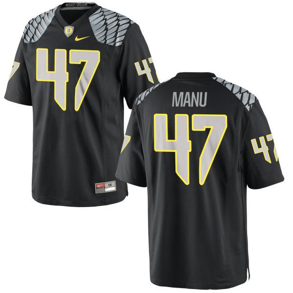 Men's Nike Rex Manu Oregon Ducks Authentic Black Jersey