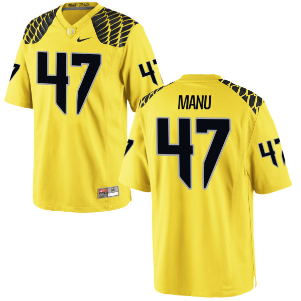 Men's Nike Rex Manu Oregon Ducks Authentic Gold Football Jersey