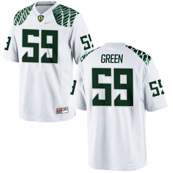 Men's Nike Riley Green Oregon Ducks Replica White Football Jersey
