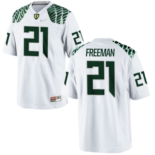 Men's Nike Royce Freeman Oregon Ducks Replica White Football Jersey