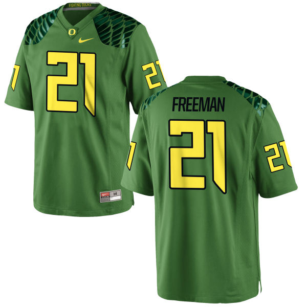 Men's Nike Royce Freeman Oregon Ducks Replica Green Alternate Football Jersey Apple