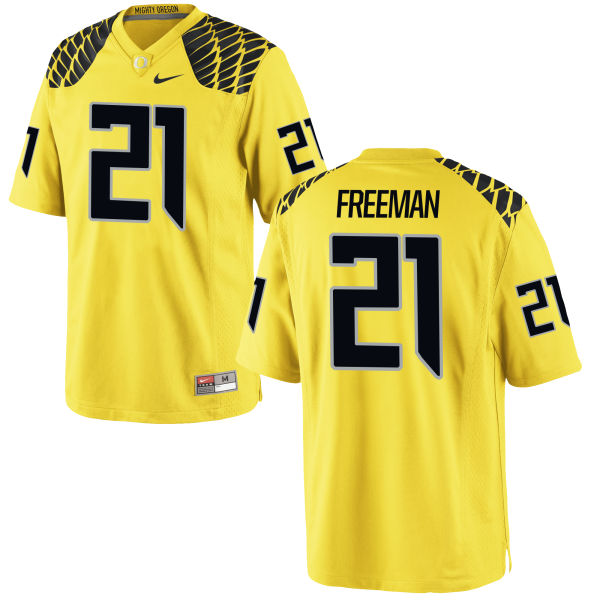 Men's Nike Royce Freeman Oregon Ducks Replica Gold Football Jersey