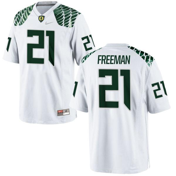 Men's Nike Royce Freeman Oregon Ducks Game White Football Jersey