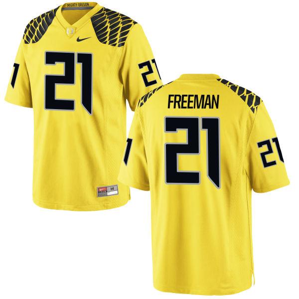 Men's Nike Royce Freeman Oregon Ducks Limited Gold Football Jersey