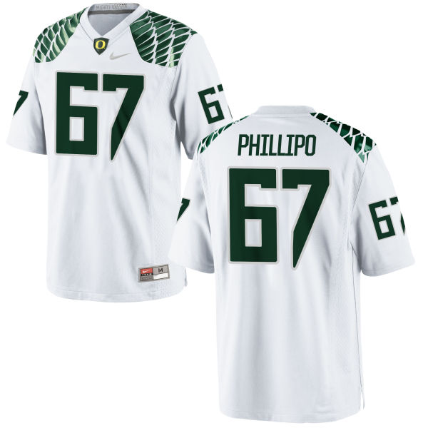 Men's Nike Ryan Phillipo Oregon Ducks Game White Football Jersey