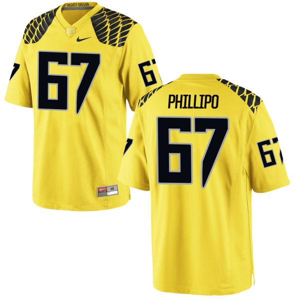 Men's Nike Ryan Phillipo Oregon Ducks Limited Gold Football Jersey