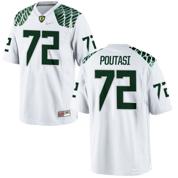 Men's Nike Sam Poutasi Oregon Ducks Game White Football Jersey