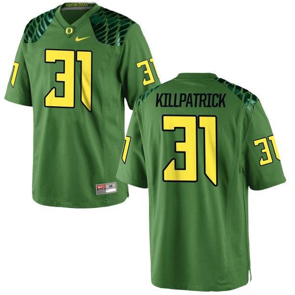 Men's Nike Sean Killpatrick Oregon Ducks Replica Green Alternate Football Jersey Apple