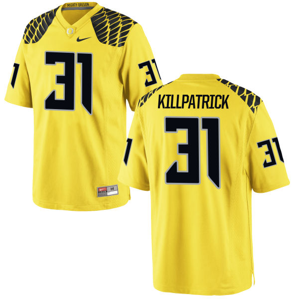 Men's Nike Sean Killpatrick Oregon Ducks Replica Gold Football Jersey