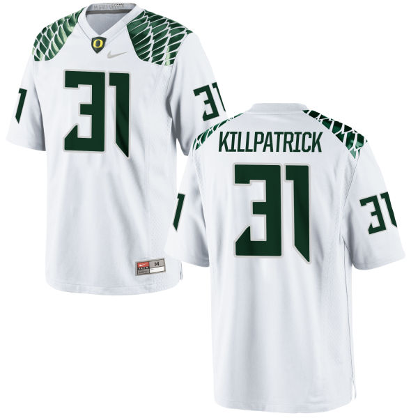 Men's Nike Sean Killpatrick Oregon Ducks Limited White Football Jersey