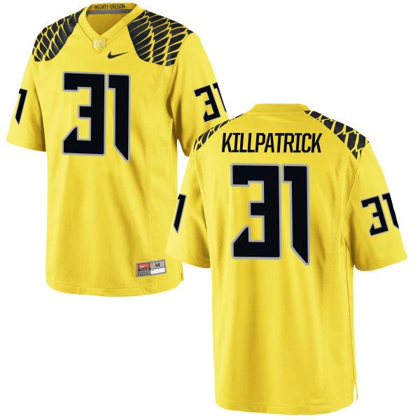 Men's Nike Sean Killpatrick Oregon Ducks Limited Gold Football Jersey