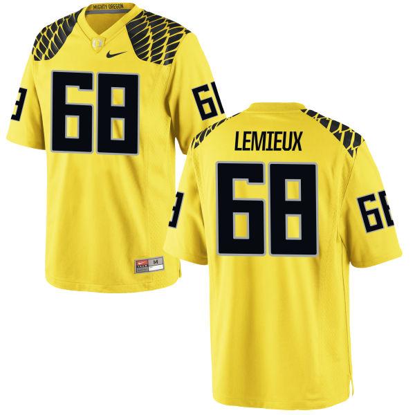 Men's Nike Shane Lemieux Oregon Ducks Limited Gold Football Jersey