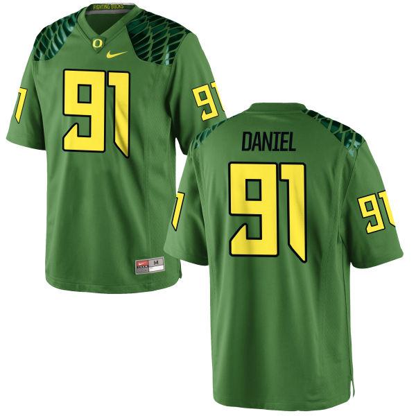 Men's Nike T.J. Daniel Oregon Ducks Game Green Alternate Football Jersey Apple