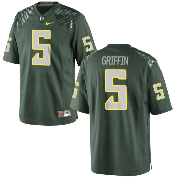 Men's Nike Taj Griffin Oregon Ducks Game Green Football Jersey