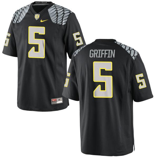 Youth Nike Taj Griffin Oregon Ducks Replica Black Jersey